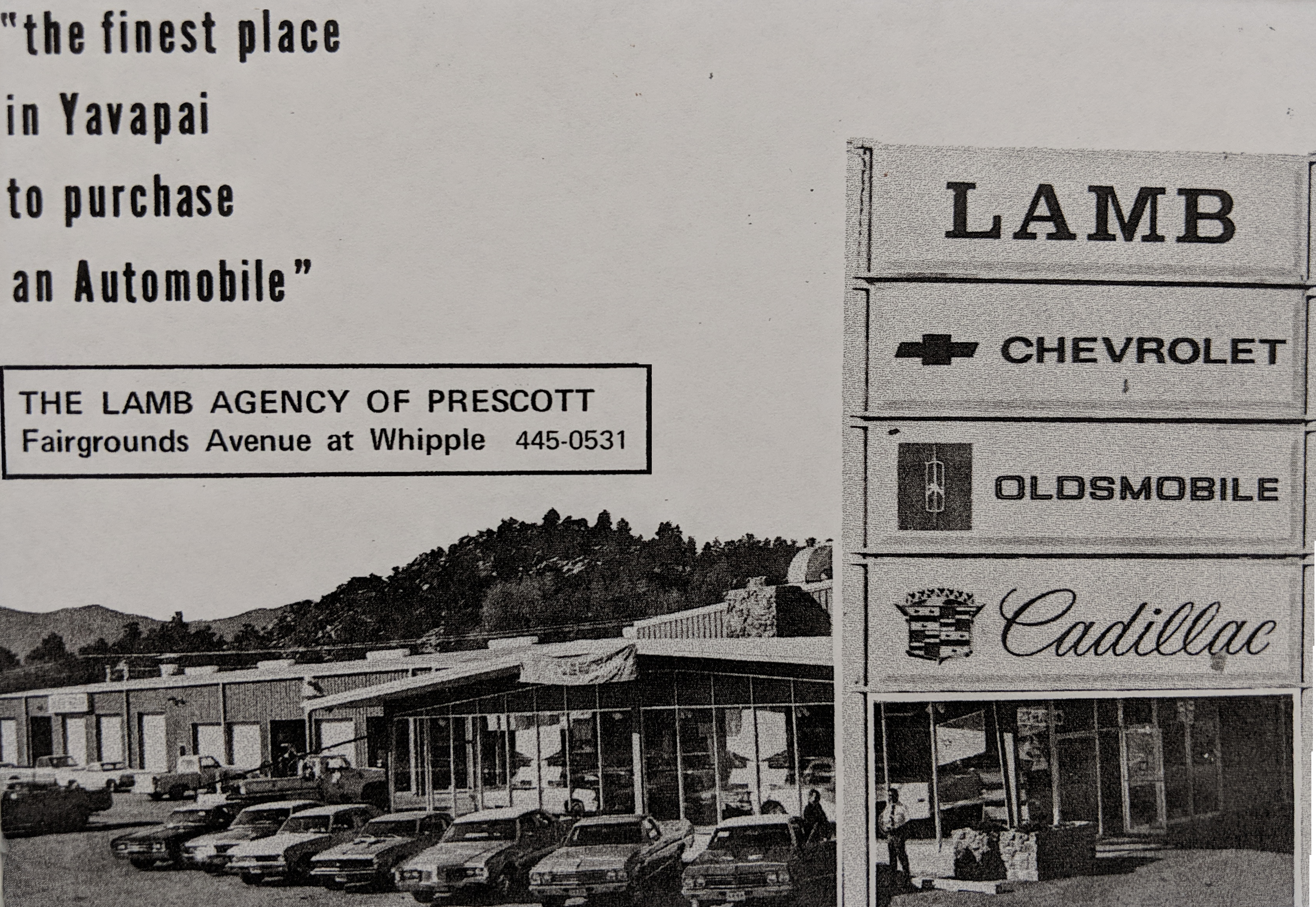 Lamb Chevrolet, Oldsmobile, Cadillac Original Dealership 1957